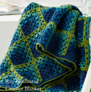 Ray graduated crochet blanket